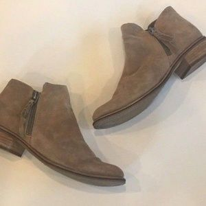 Dolce Vita Sutton Taupe Suede Ankle Boots Booties